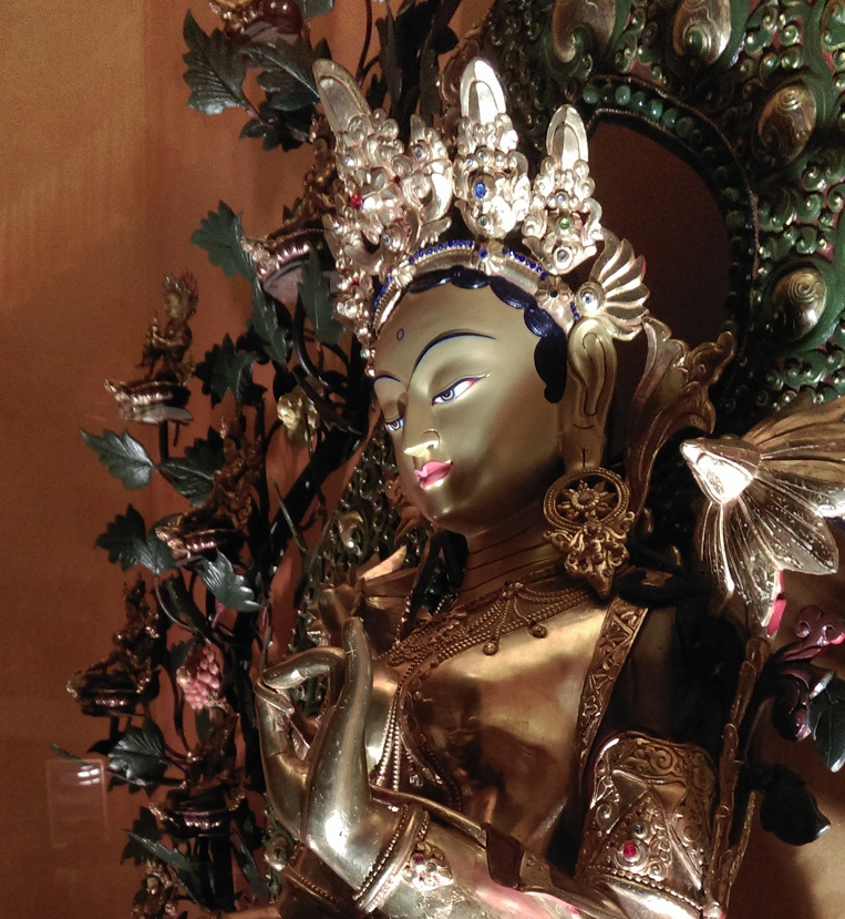 Picture of the Tara statue of the main altar shrine